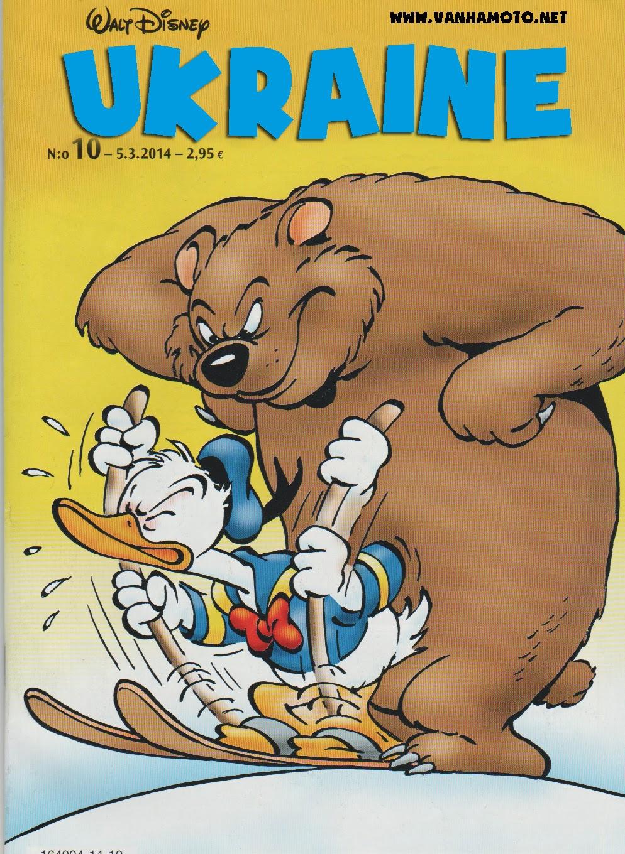 Ukraine and the Big Bad Bear -  Russia, Ukraine, Donald Duck, Aku Ankka, cover