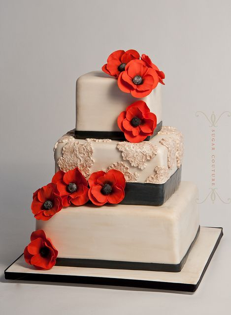 Weddings with poppies, ideas