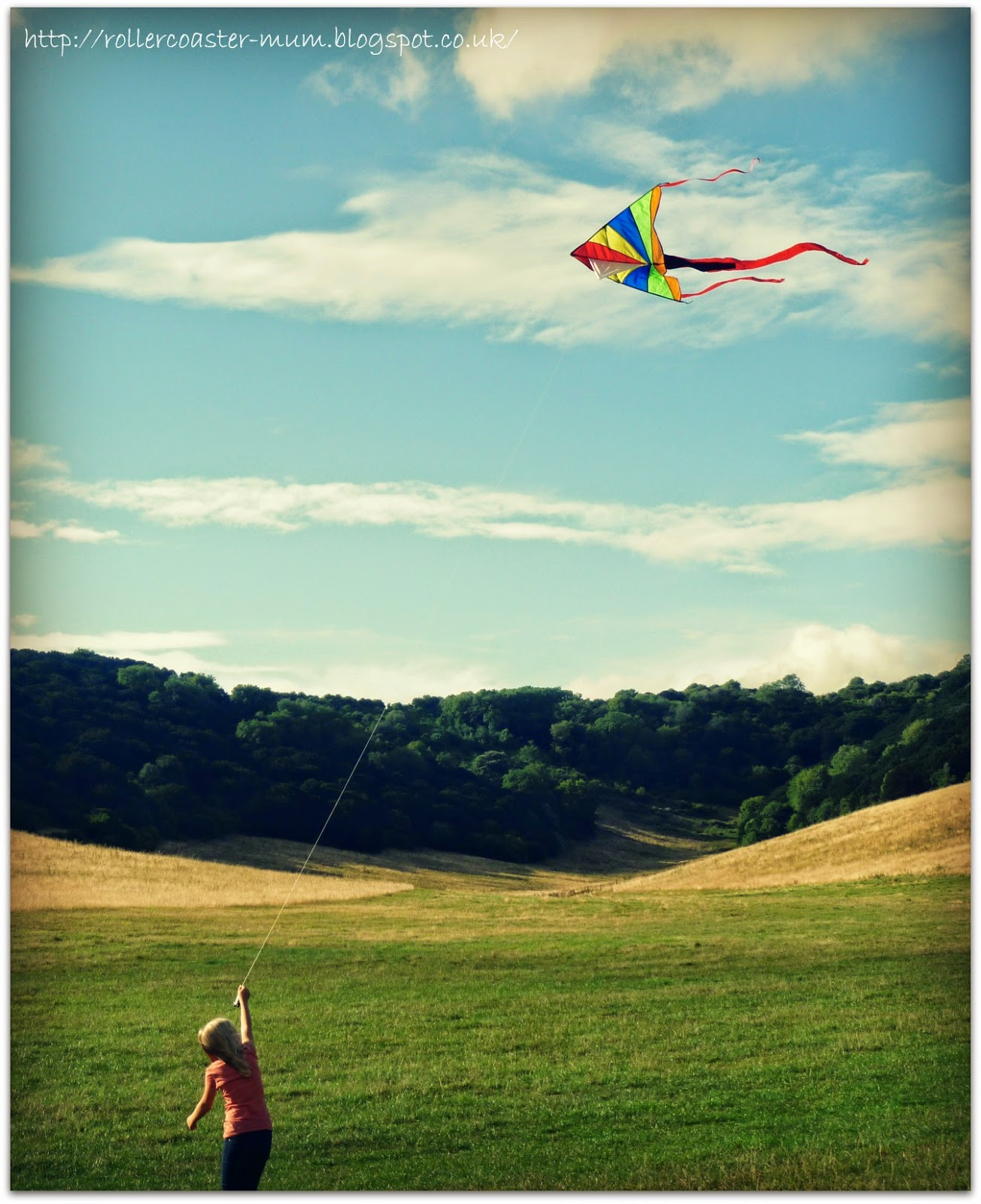 Traditional toys, flying a kite