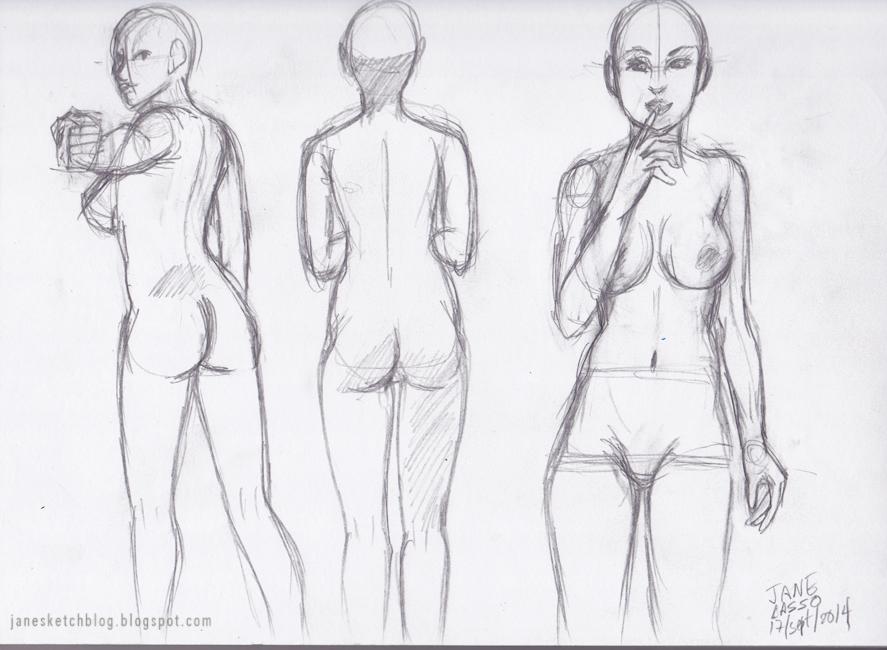 Dibujo de desnudo femenino