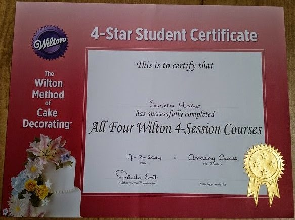 Wilton Eind certificaat