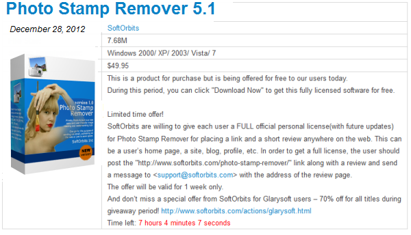 Giveaway Photo Stamp Remover 5.1