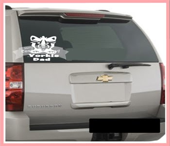 Yorkie Dad Car Decal