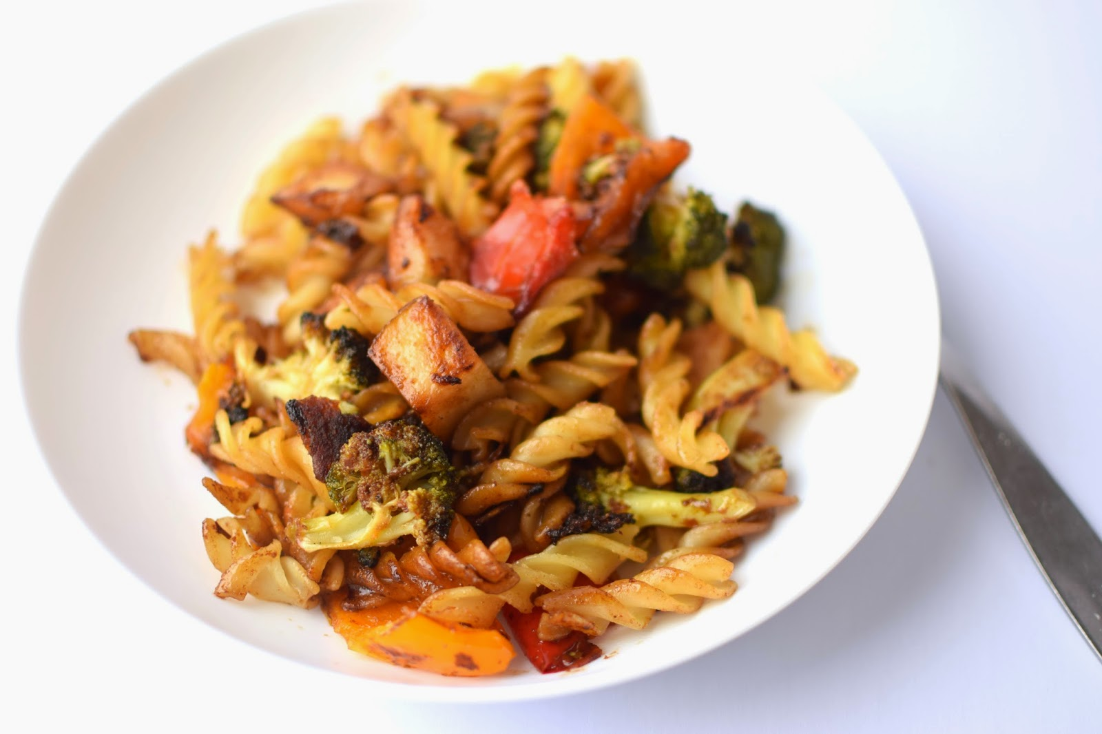 rotini and roasted veg stirfry