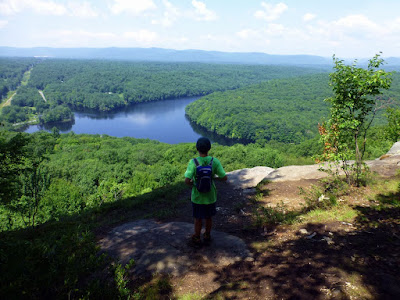 View of the Hudson River from Moreau Lake State Park's Western Ridge trail on Saturday, July 11, 2015.  The Saratoga Skier and Hiker, first-hand accounts of adventures in the Adirondacks and beyond, and Gore Mountain ski blog.