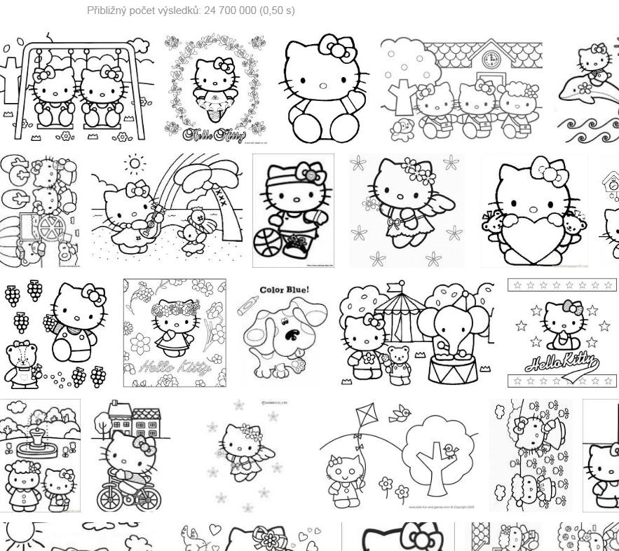 Hello Kitty - omalovánky