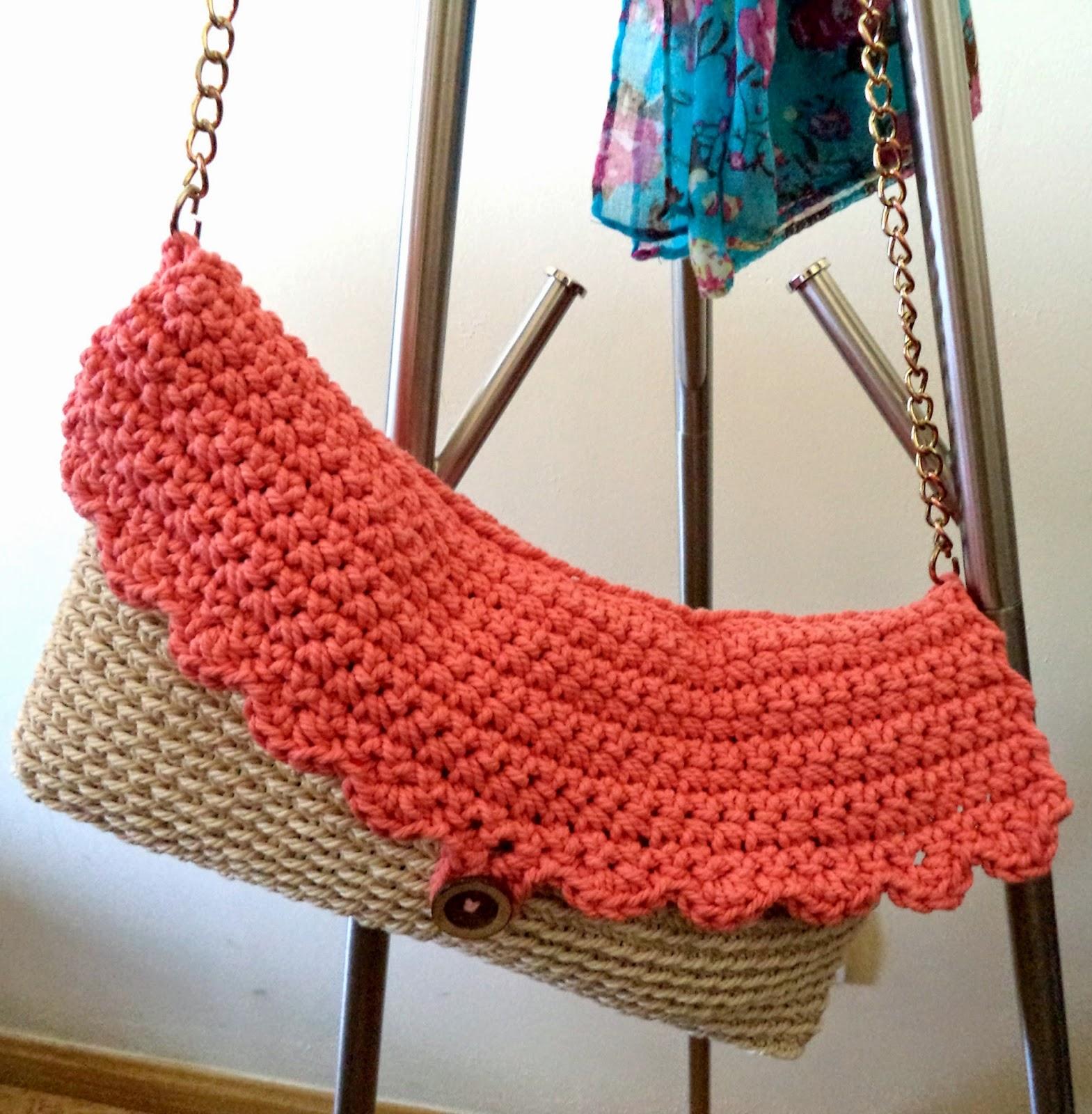bolso de ganchillo con cuerda