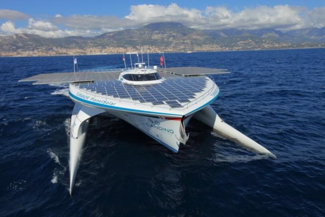 Gambar kapal pesiar solar terbesar di dunia Tûranor PlanetSolar