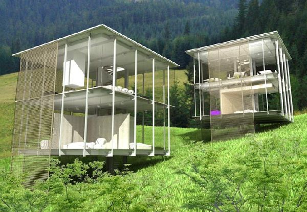 Transparent Glass House