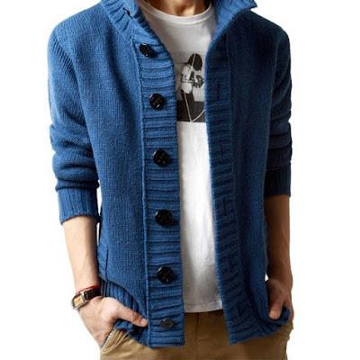 Model Sweater Pria Korea Dengan Kancing Besar