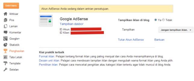 Cara Mendaftar di Google Adsense Tahap 6