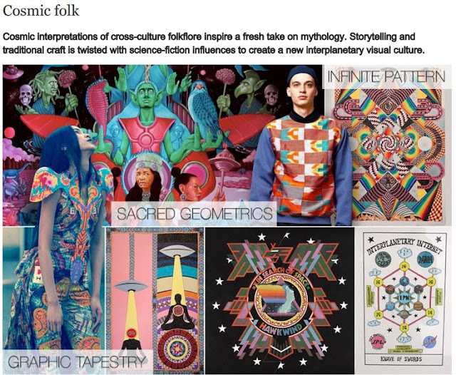 SS14, aw14, WGSN, trend board, summer trends, cosmic folk, ufo fashion, fashion trend, digital print