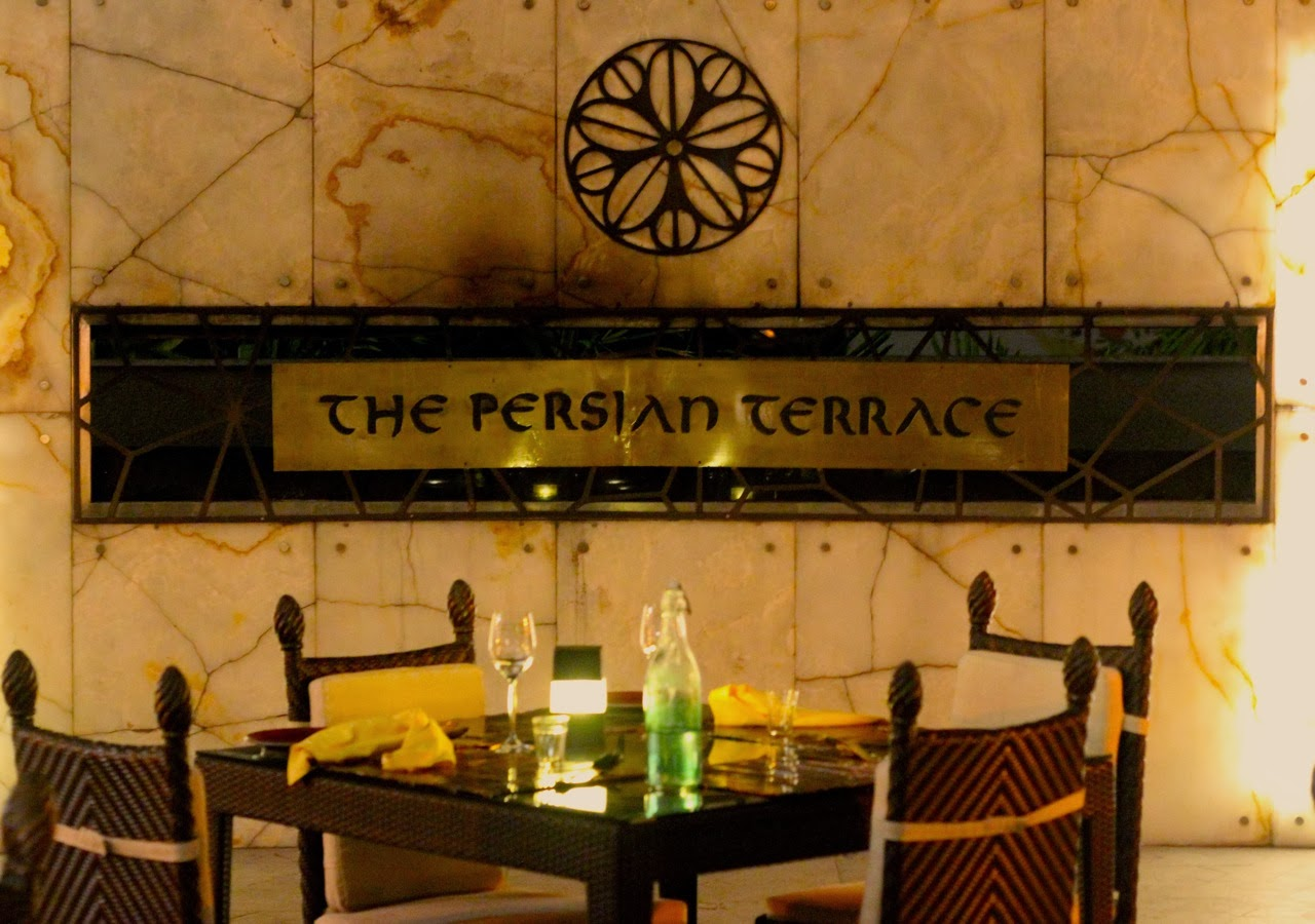 Review of restaurants 39 a pinch of persian 39 at the persian for Terrace restaurants in bangalore
