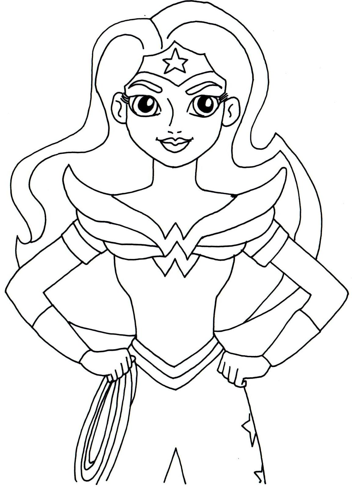 free printable super hero high coloring page for wonder woman