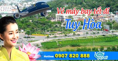 Vé máy bay tết đi Tuy Hòa