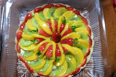 BIG CHEESE TART + MIXFRUITS