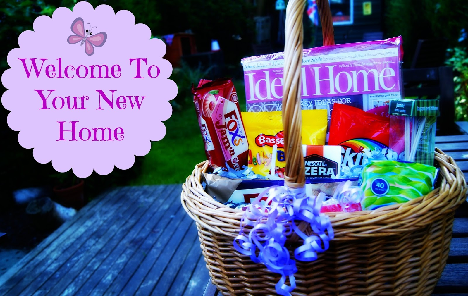 Welcome To New Home Gifts Part - 18: Thrifty Gift Basket Idea - Welcome To Your New Home