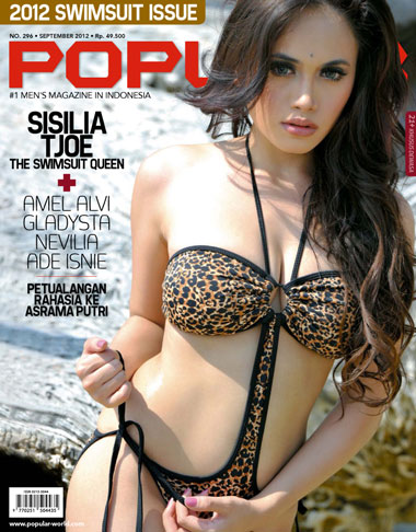 hot Sisilia Tjoe Model Majalah Popular, September 2012