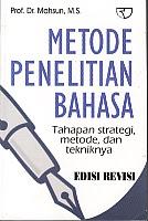 toko buku rahma: buku METODE PENELITIAN BAHASA , pengarang mahsun, penerbit rajawali pers