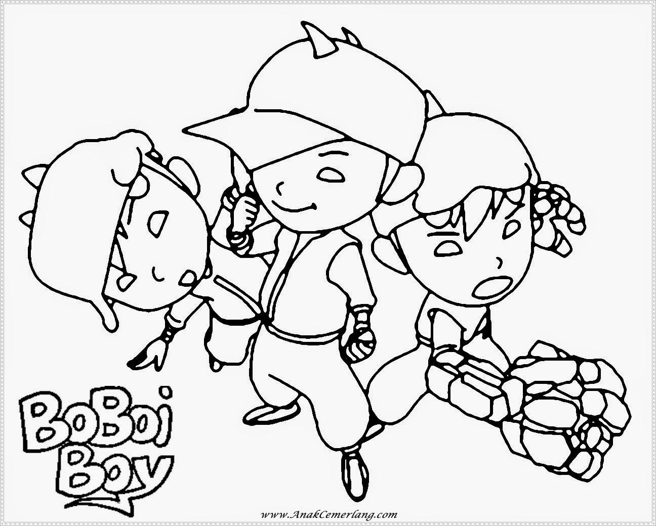 Download Gambar Mewarnai Boboiboy