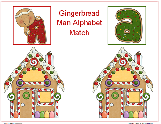 Gingerbread man activities to 1 2 3 learn curriculum worksheets crafts
