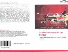 La Historicidad de los Textos.Un Método desde las Ciencias Sociales y Humanas. Mónica Cuervo Prados