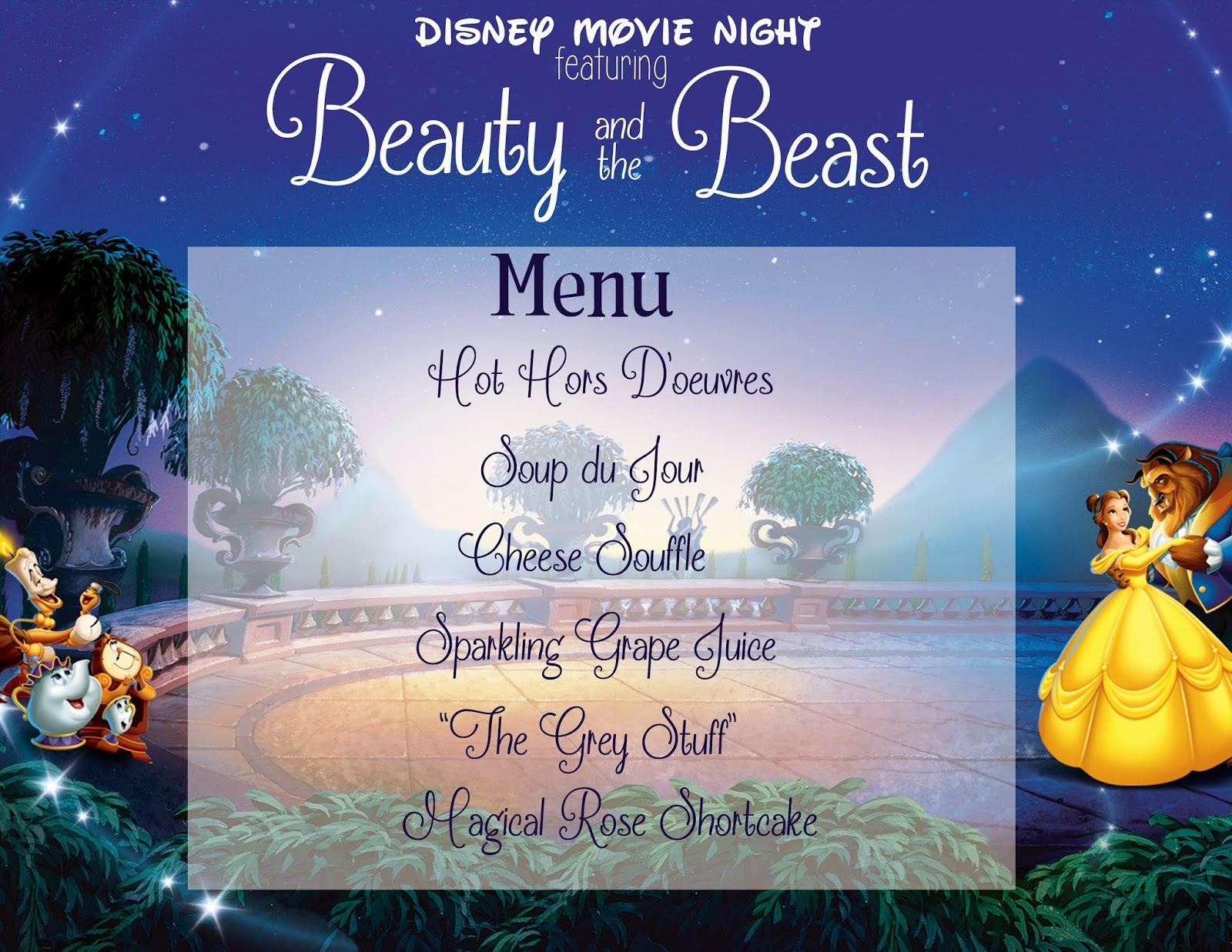 mommy and things family movie night beauty and the beast