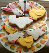 Easter Cookies! Easter Cookies! Vanilla butter cookies decorated easter