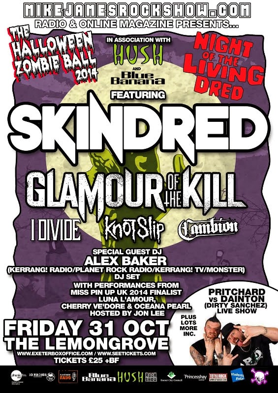 Mike James Rock Show 2014 Zombie Ball Line Up