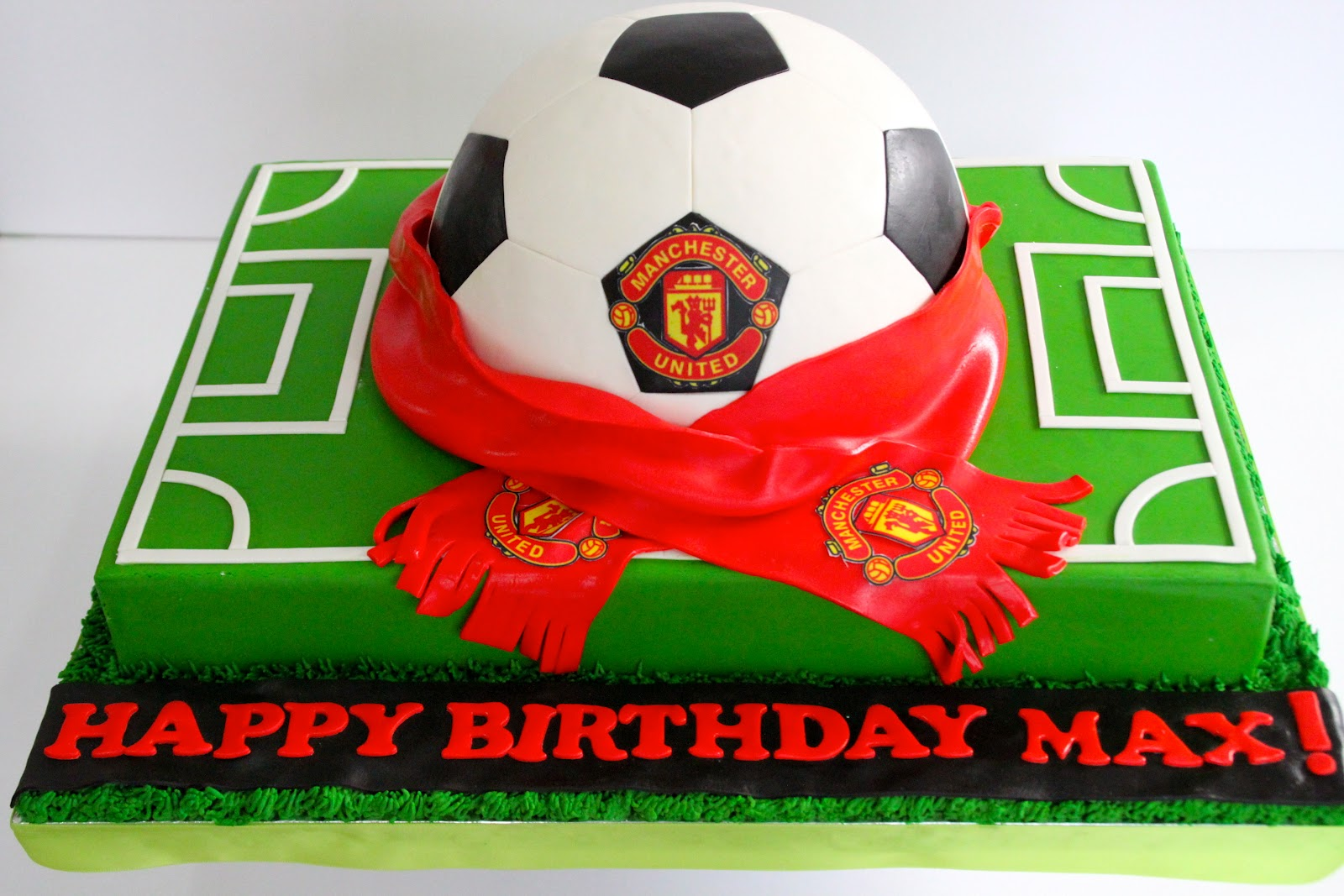 Celebrate With Cake Manchester United Soccer Ball Cake