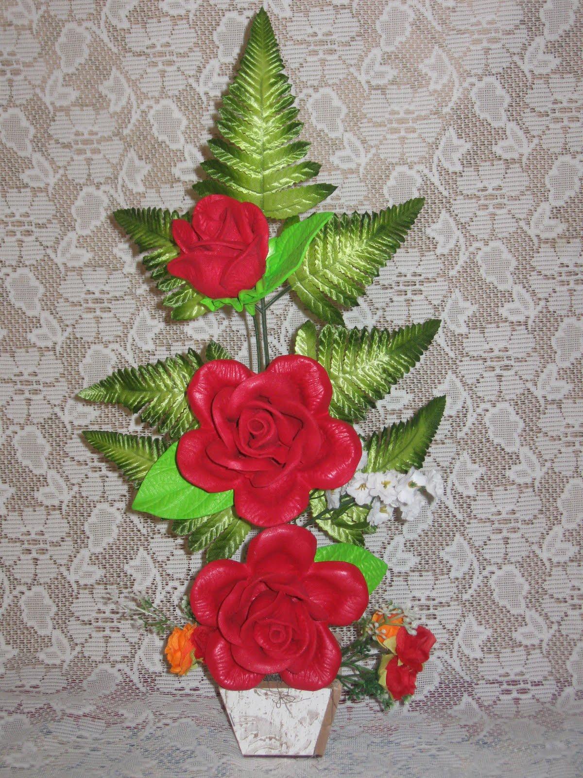 Armario Pequeno Para Banheiro ~ Guinevere Artesanato 439 Vasos de Flores em EVA