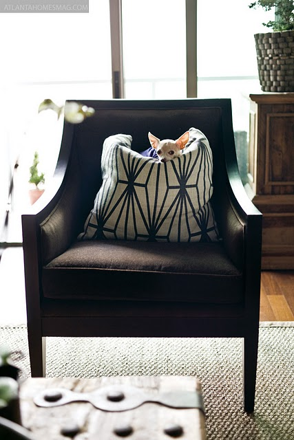 The Simple Graceful Lines Of This Chair Are Shown Off With A Textural Solid Fabric Spot Pattern On Pillow Adds Interest And Modernizes