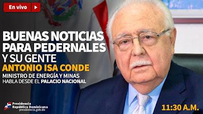 EN VIVO: Buenas noticias para Pedernales y su gente