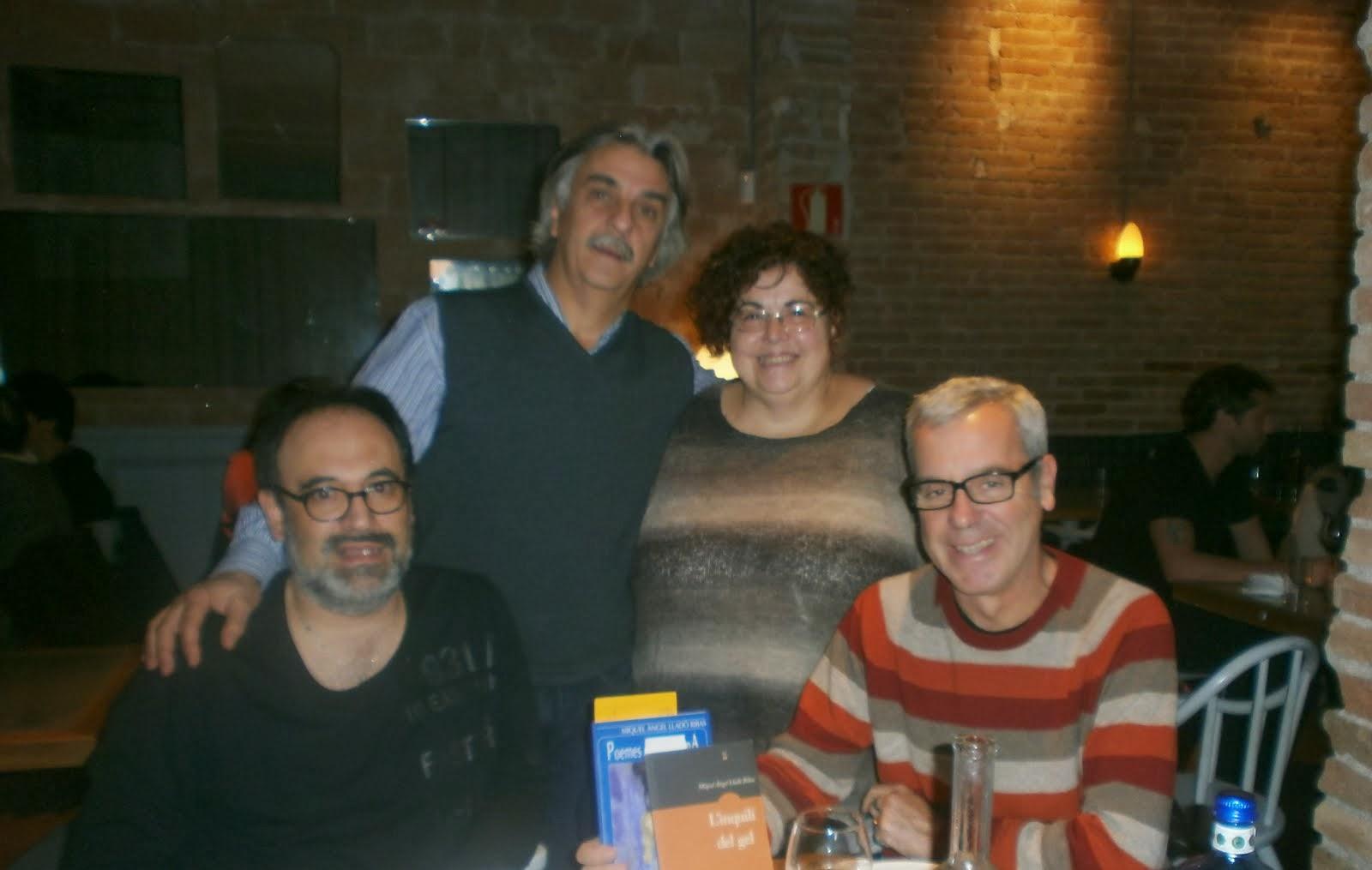 Amb Marta Pérez Sierra, Miquel Àngel Lladó i Eduard Miró