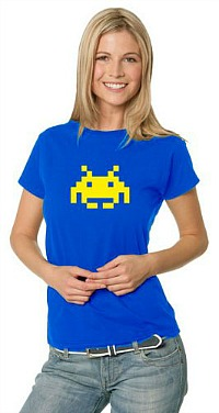 Blue Space Invader T-Shirt