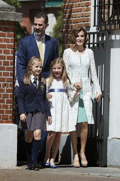 princesse Leonor a effectué sa première communion au sein de son école