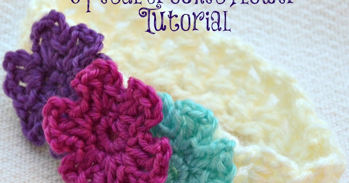Sewing And Crafting With Sarah 6 Petal Crochet Flower Tutorial