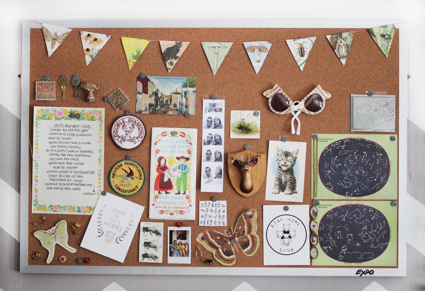 2013 bulletin board the dainty squid for Cork board inspiration