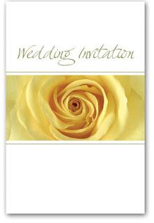 yellow rose invitations
