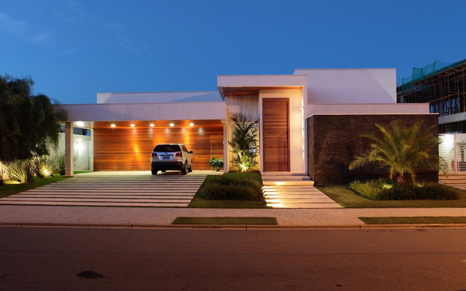 15 fachadas de casas modernas com plantas veja projetos