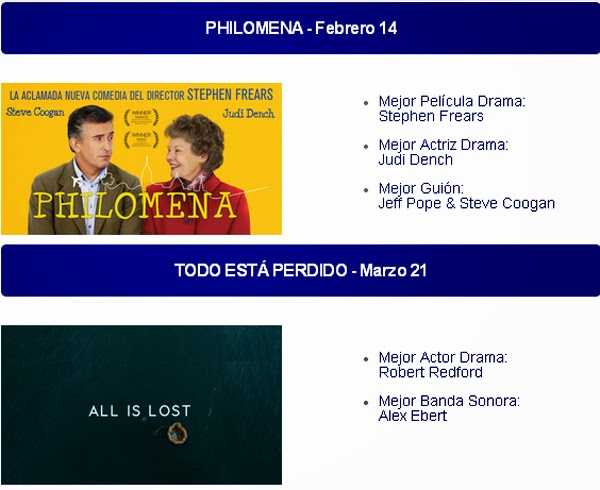 nominadas-Globo-Oro-2014