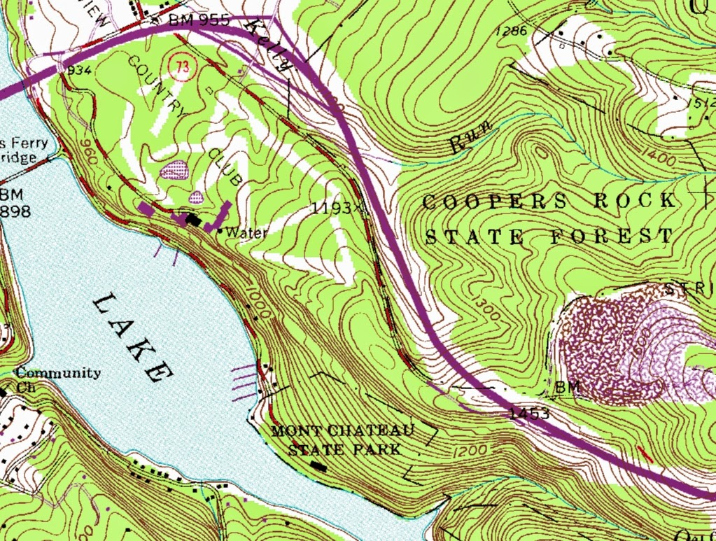 an area as well as the elevation and terrain topographic maps are useful because they accurately show the natural and man made features of a land mass