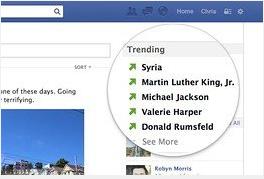 Trending Topics Facebook Sedang diujicoba