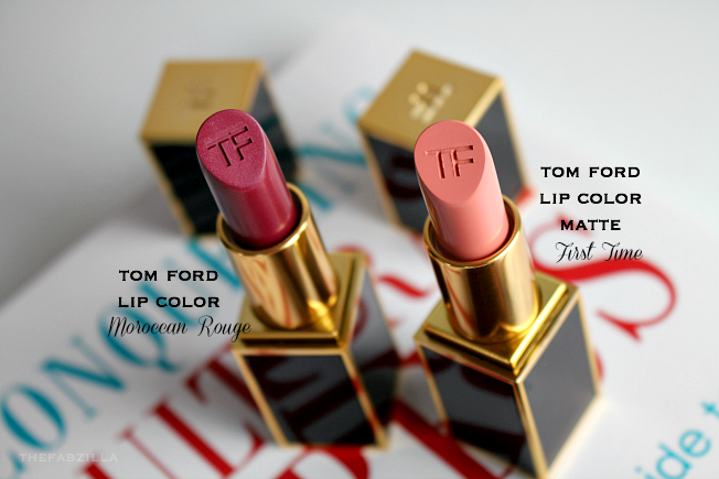 tom ford lip color matte first time, tom ford lip color moroccan rouge, review, swatch, tom ford pussycat, tom ford ruby rush, tom ford velvet cherry