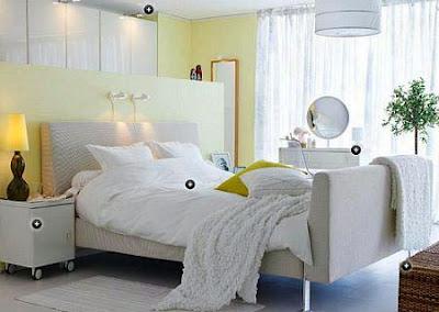 habitación colores claros Ikea