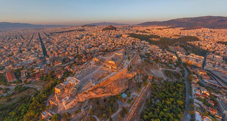 aerial photography - Athens