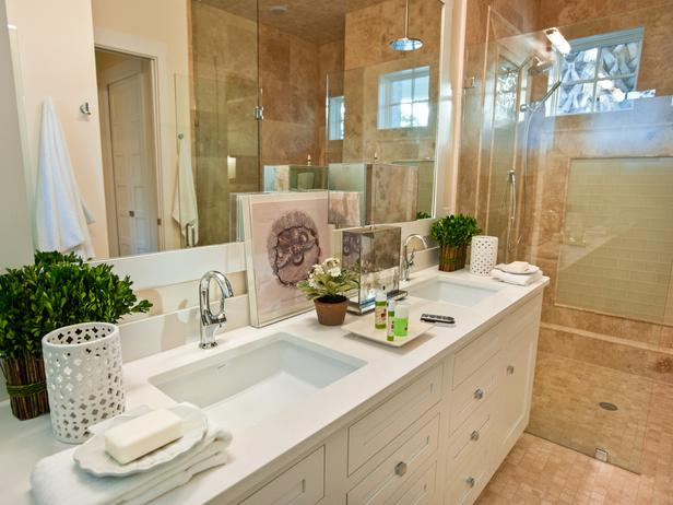 The 7 foot vanity  capped with quartz  offers his and hers sinks  Bayberry  bouquets and an African violet lend an infusion of color and pop when  paired with. Interior Design Ideas for Home Decor  Master Bathroom Pictures