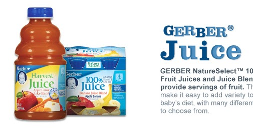 Sally S Coupons Gerber Juice Printable Coupon 0 85