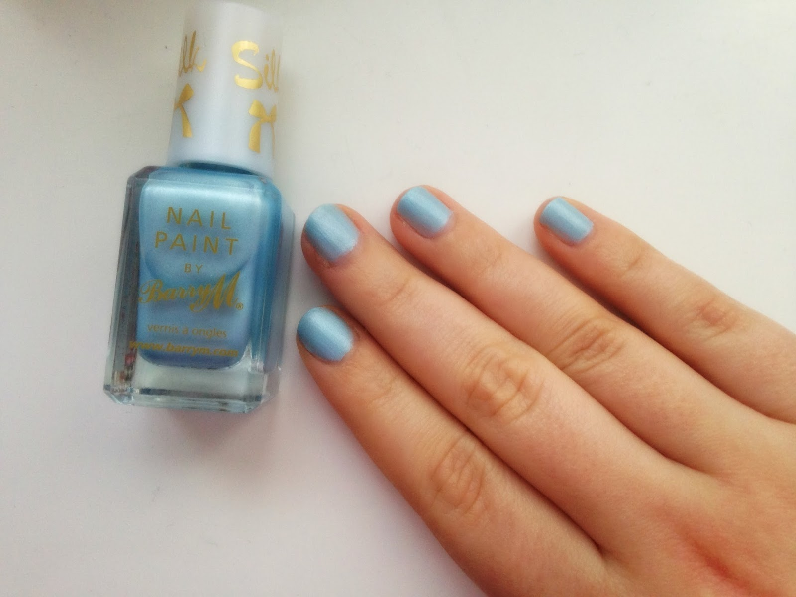 Barry M Silk Collection in Blue Mist