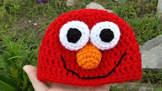 Free Crochet Patterns For Elmo Hat : Mommy Made Crochet: Newborn Elmo Hat